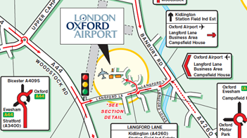 Map London To Oxford.Oxford Airport Visiting